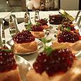 shiraz caviar over duck liver pate
