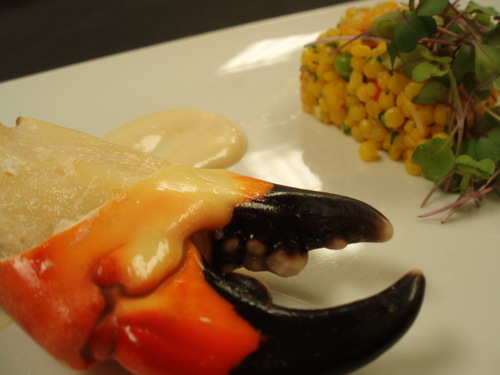 stone crab with couscous