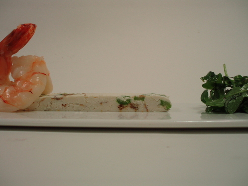 ricotta anchovy marble with shrimp