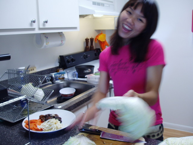 ming cooking at home