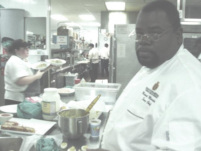 the 'digitally enhanced' chef mike
