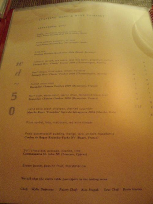 wd~50 tasting menu